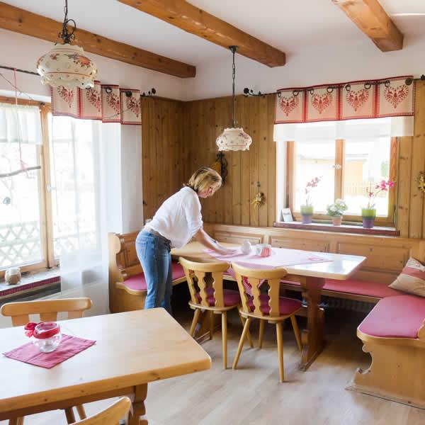 Antdorfer Gästehaus Gastraum